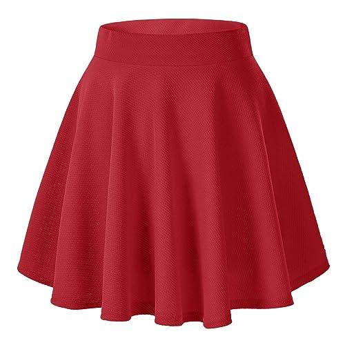 Urban GoCo Falda Mujer Elástica Plisada Básica Patinador Multifuncional  Corto Falda 0b84bfd0264a