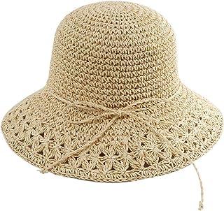 WN - Sombrero - Sombrero de Paja, Damas, Verano, Protección Solar, Sombrero para el Sol, Viaje Plegable, Protección UV, Sombrero de Playa, cómodo y Transpirable (4 Colores) Sombrero para Mujer