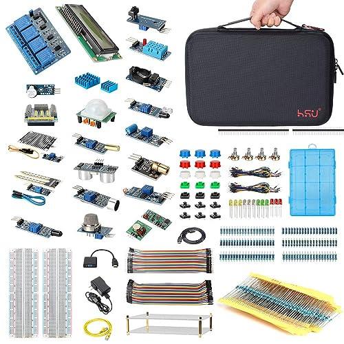 HSU Development Kit for Raspberry Pi 3 and Arduino with 16 Different Sensor Modules,Hundreds