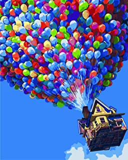 Paint by Numbers for Adults, DIY Painting Paint by Numbers Kits on Canvas, Colourful Balloon 41cm x 50cm