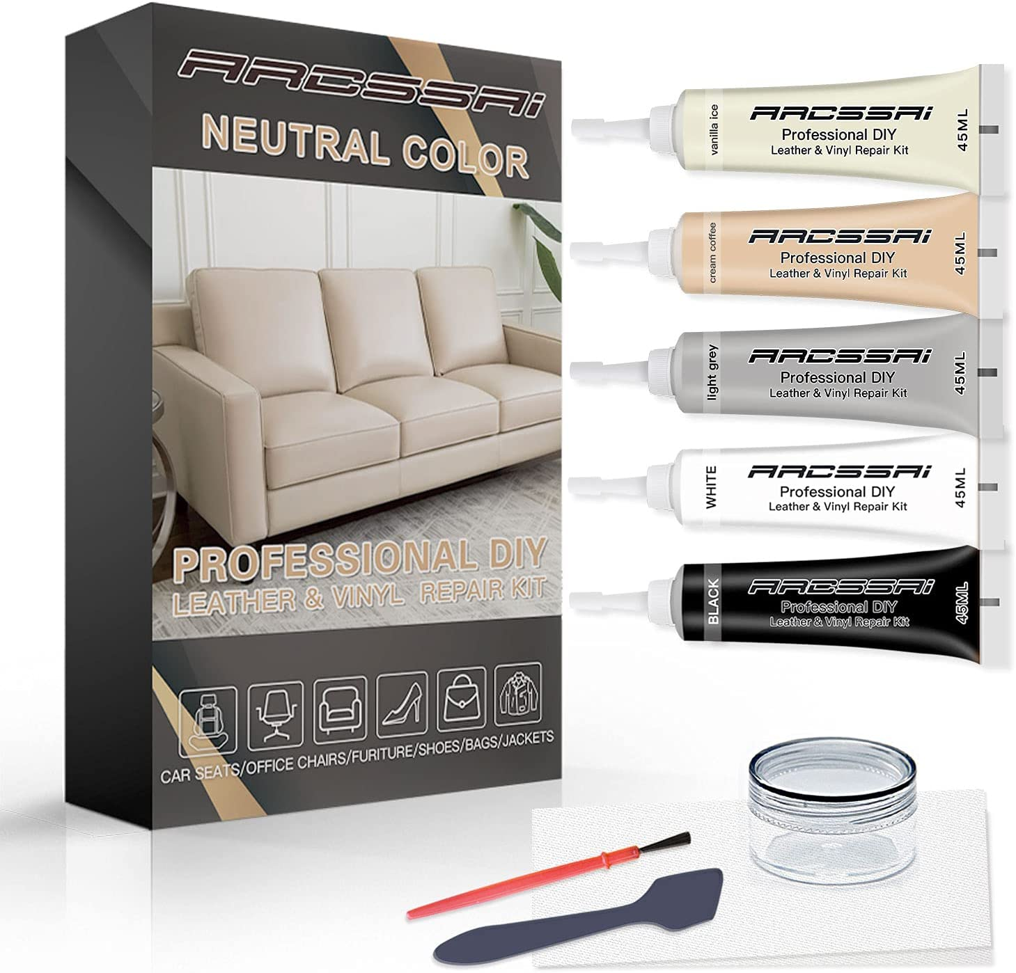 Bargain sale Neutral Color Vinyl and Leather Repair Award Leat Couches for Kit PU