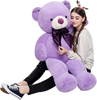 MaoGoLan Giant Teddy Bear Purple Large Stuffed Animals Big Bears Plush Toys for Girls Children Girlfriend Valentine's Day 47 Inch