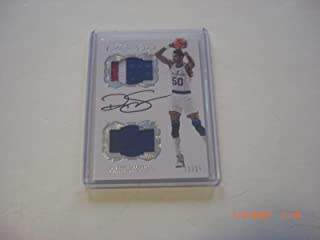Ralph Sampson 2016 Flawless 3-color Game Used Dual Jersey Auto 12/25 Signed Card - Basketball Game Used Cards