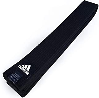 adidas Custom Personalized Embroidered Black Belt for Martial Arts - Taekwondo, Karate, Judo and Jiu Jitsu
