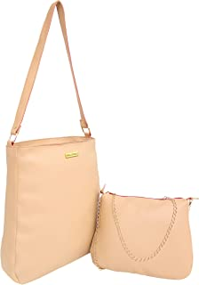 ANGLOPANGLO Hazel 2 in 1 Combo of leatherette Handbag and Sling for Girls and Women