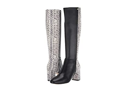 Cole Haan Rianne Boot 65 mm (Black Leather/Natural Python Print Leather) Women