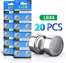 LiCB 20 PCS LR44 AG13 357 303 SR44 A76 Battery 1.5V Button Coin Cell Batteries