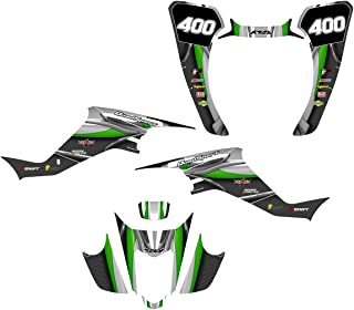 Suzuki LTZ 400 or Kawasaki KFX 400 Graphics Decal Kit Fits 2003-2008 Design No5600 (green)