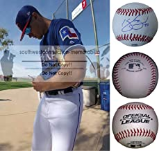 Kyle Bird Texas Rangers Autographed Hand Signed Baseball with Exact Proof Photo of Signing and COA