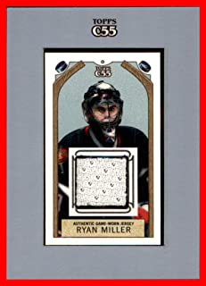 2003-04 Topps C55 Relics #TRRM Ryan Miller GAME USED JERSEY BUFFALO SABRES