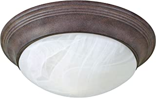 Progress Lighting P3688-33 1-Light Close-To-Ceiling Fixture with Etched Alabaster Style Twist On Glass, Cobblestone
