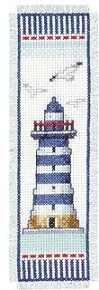 Vervaco Leuchtturm Zählmusterpackung-Lesezeichen-Stickpackung im gezählten Kreuzstich, Baumwolle, Mehrfarbig, 6 x 20 x 0.3 cm