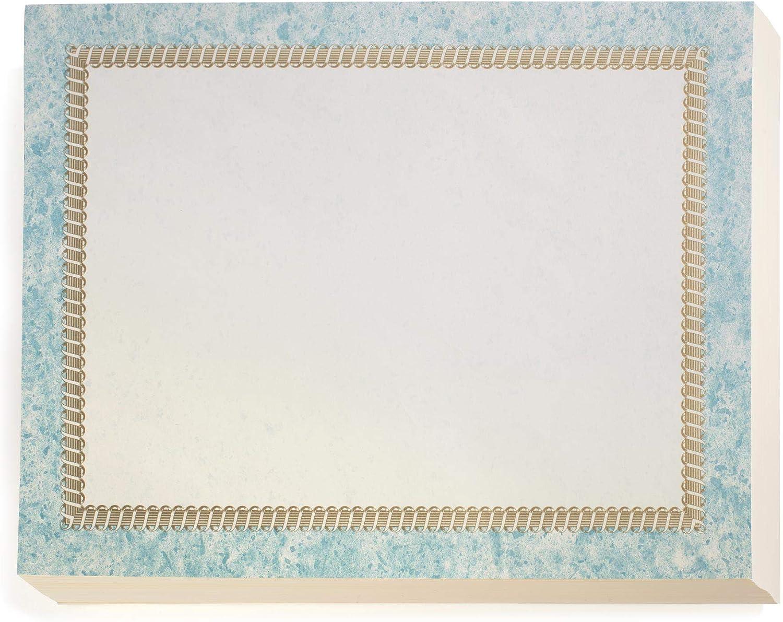 PaperDirect Cincture Standard Blue Many popular brands Cheap sale Paper Certificate Borde Gold