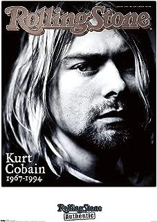 Trends International Rolling Stone-Kurt Cobain Mount Bundle Wall Poster, 22.375