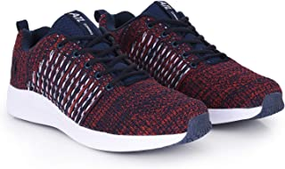 Action Shoes Men's Blue Running Shoes  - 9 UK (43EU) (ATL-10-NAVY-RED)