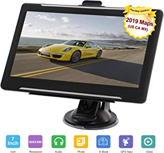 GPS Navigation for car, 7-inch HD 256-8GB Voice Broadcast Front Route, Top Loading North America Map Contains (USA, Canada, Mexico map) Lifetime Map Free Update