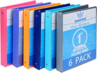 """1 Inch 3 Ring Binders,SEEKIND View Binders,Holds Up to 8.5""""11"""" Paper,Customizable Clear Cover,for Home,Office, and School ..."""