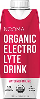 NOOMA Organic Electrolyte Sports Drink, Naturally Hydrating, Coconut Water Base, Certified Keto, Vegan, Gluten Free and Mo...