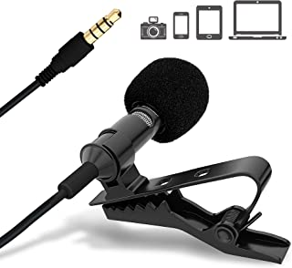 Ultimate Lavalier Microphone for Bloggers and Vloggers Lapel Mic Clip-on Omnidirectional..