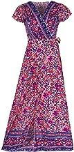 U/A Vestido de Primavera Falda de Playa Floral con Cuello en V Sexy Europea y Americana para Mujer