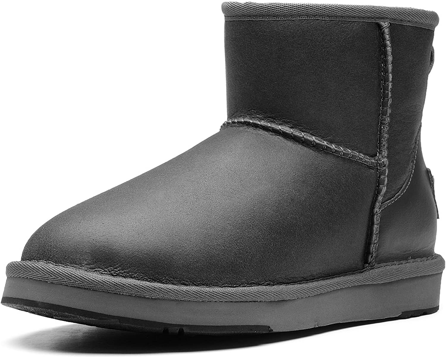 AU&MU Aumu Womens Warm Classic Sheapskin Snow Boots Black