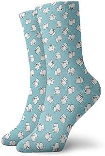 yting, Niños Niñas Locos Divertidos Calcetines de papel higiénico Calcetines lindos de vestir de novedad