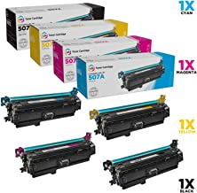 LD Remanufactured Toner Cartridge Replacements for HP 507X & HP 507A (1 Black, 1 Cyan, 1 Magenta, 1 Yellow, 4-Pack)