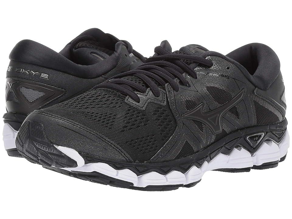 Mizuno Wave Sky 2 (Black) Girls Shoes