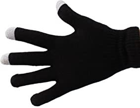 DURAGADGET Size Large Black Touch Screen Gloves - Compatible with I-Onik TP8-1500DC | TP8-1200QC | TP9 | 7-1500DC | TP97-1...