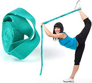 Scotamalone Yoga Strap, Multi-Loop Strap, Stretch Strap, Nonelastic Stretch Bands Exercise Bands Rehab Strap for Physical ...