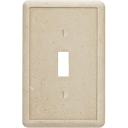 Single Toggle Travertine Light Switch Cover Cast Stone Tumbled Textured Outlet Cover Wall Plate Amazon Com