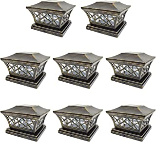 6x6 solar post cap lights