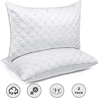 Bed Pillows for Sleeping(2-Pack) Luxury Hotel Collection Gel Pillow Good for Side and Back Sleeper & Hypoallergenic-Queen Size