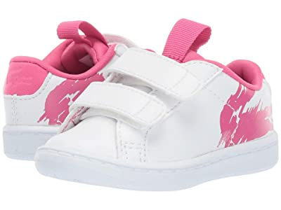 Lacoste Kids Carnaby Evo (Toddler/Little Kid) (White/Dark Pink) Girl