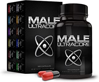 Male UltraCore Supplements (1 Month Supply) � High Potency - Ultimate Endurance, Drive & Strength Booster � 120 caps per Bottle