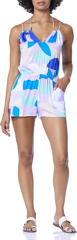 Bikini Lab Women's Standard Cinched Waist Romper Swim Cover-up
