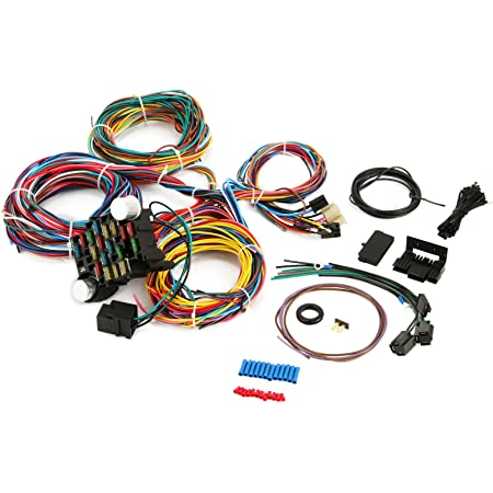 Amazon.com: Mophorn 21 Circuit Wiring Harness Kit Long Wires Wiring Harness  21 standard Color Wiring Harness Kit with 21 Circuits 17 Fuses for Chevy  Mopar Hotrods Ford Chrysler Universal: Automotive   Ford Model A Wiring Harness Kits      Amazon.com