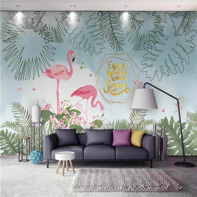 grandes ofertas YYBHTM Fondo 3D Moderno Dibujado A Mano Simple Planta Tropical Tropical Tropical Hojas Fondo De Sala De TV  increíbles descuentos