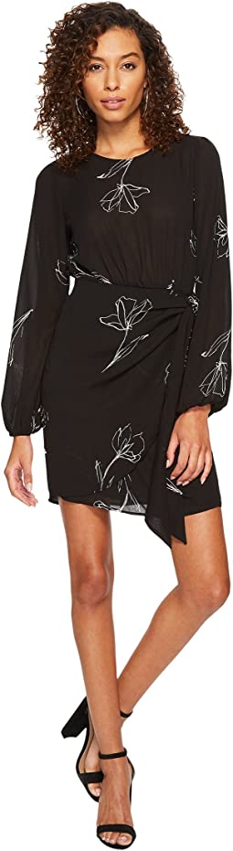 ASTR the Label - Tie Skirt Long Sleeve Dress