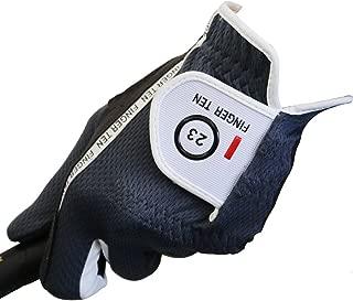 Finger Ten ゴルフグローブ メンズ 全天候型 左手用 一枚 滑り止め 柔らかい ゴルフ用 繊維布 フィット感 マジックテープ 汗防止 多機能 Black 灰Grey Green グリーン22 23 24 25 26 27