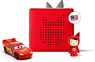 Toniebox Starter Set Red + Disney and Pixar Cars - Educational Musical Toy for Boys - Imagination-Building, Screen-Free Di...