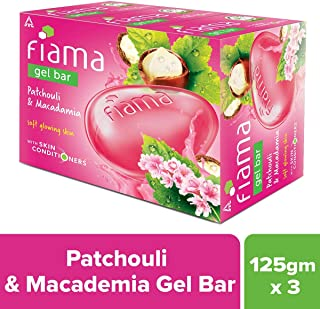 Fiama Gel Bar Patchouli and Macadamia, 125 g (Pack of 3)