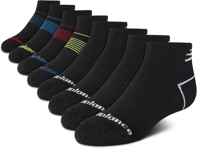 New Balance Boys' Socks - Performance Cushioned Quarter Socks (8 Pack)