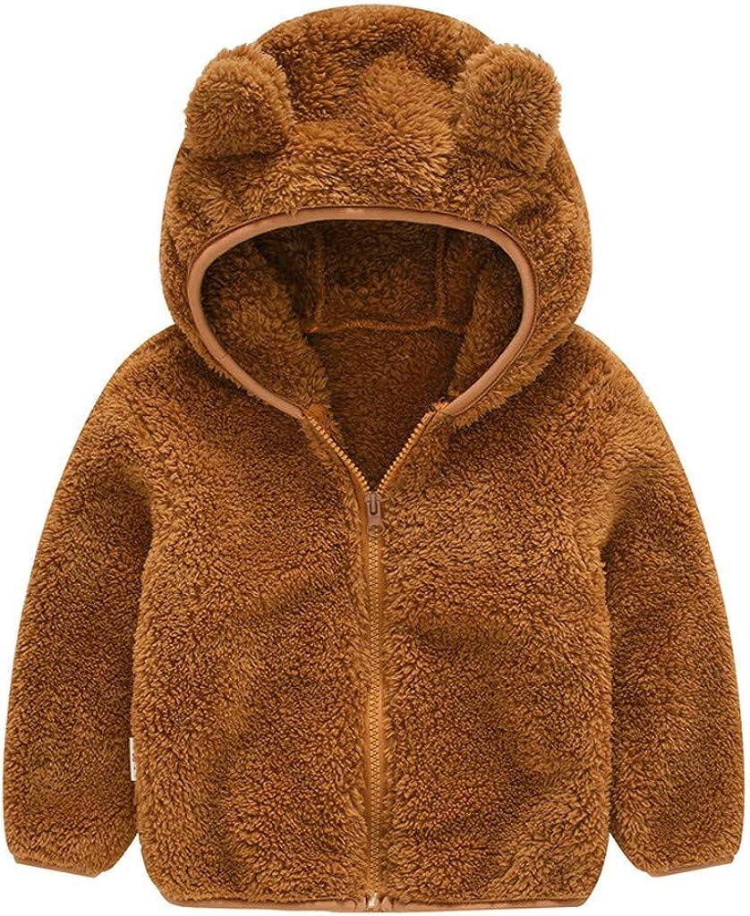 Infant Baby Boys Ranking TOP1 Girls Ultra-Cheap Deals Cartoon Fleece Coat Ja Hooded Warm Winter