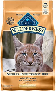 Blue Buffalo Wilderness High Protein Grain Free, Natural Adult Weight Control Dry Cat Food, Chicken 2-Lb