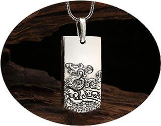 AMDXD Jewellery Men Women S925 Sterling Silver Pendant Necklaces Bodhisattva Silver Pendant