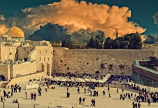 7x5ft Ancient Old City Jerusalem Historical Religious Center Western Wall Major Jewish Sacred Place View Pictorial Cloth Customized Photography Backdrop Digital Printed Background Photo Studio Prop 86
