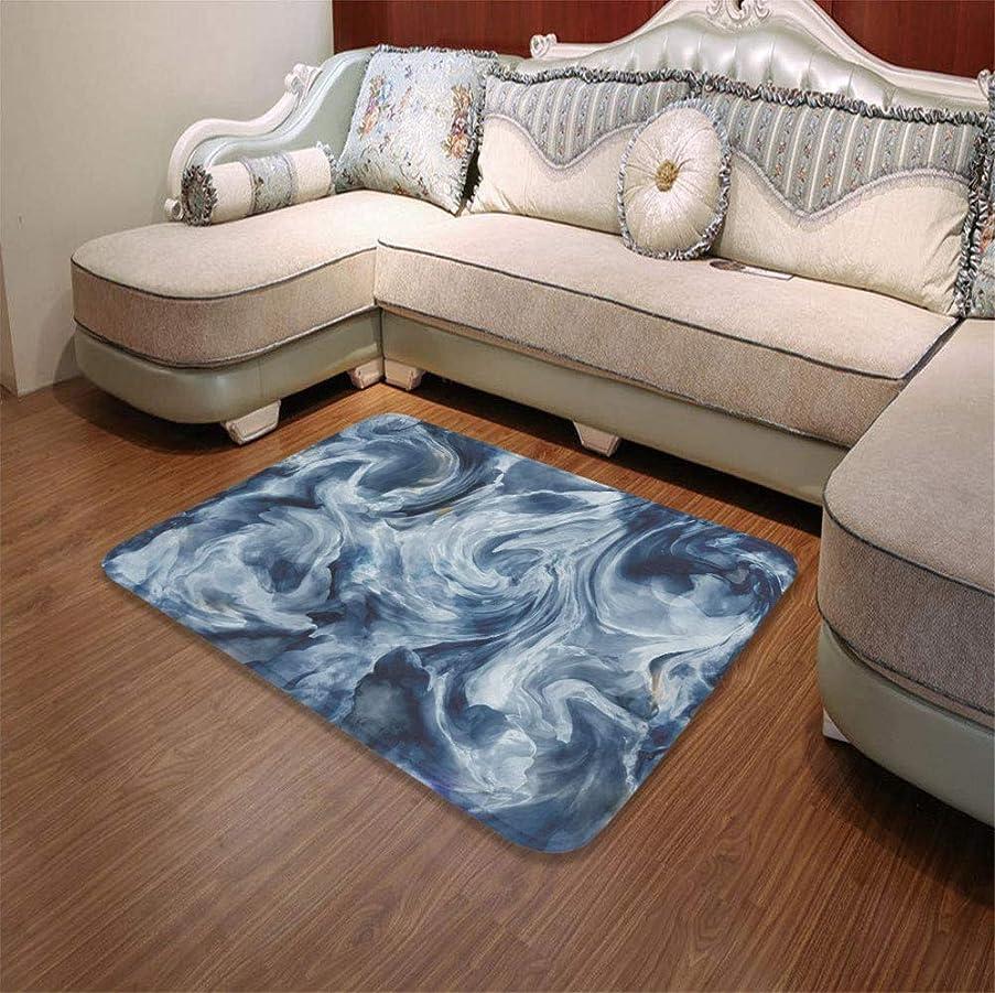 TecBillion Water Absorption Non-Slip Mat,Marble,for Corridor Study Room Bathroom,55.12