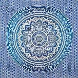 MOMOMUS Tapiz de Mandala para Pared - Ideal como Pareo, Colcha, Mantel, Alfombra de Picnic, Manta/Toalla de Playa Grande - Duradero, Elegante, Versátil - 100% Algodón y Tintes Vegetales - 210x230cm