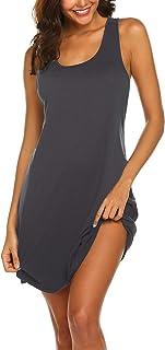 ملابس نوم مثيرة للنساء بدون أكمام قميص النوم قميص بدون أكمام بظهر المتسابق من Avidlove